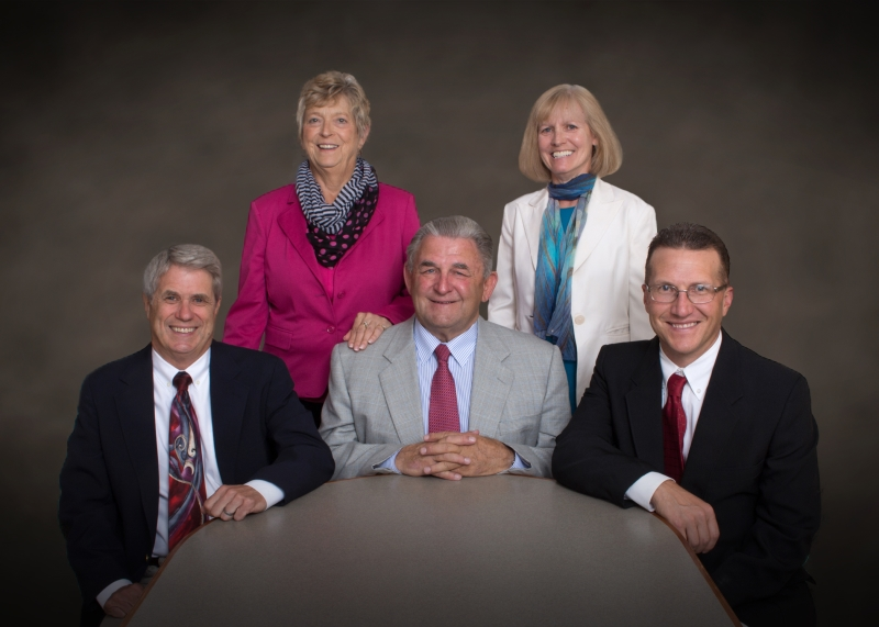 Pictured (L to R): Harry Payton, D.O., Jean Moltz, R.N., Tom Eve, Debbie Farrell, Jeff Post