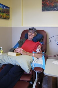 Charlie Terrill, 86, of Buena Vista was the first patient treated at Heart of the Rockies Dialysis Center.